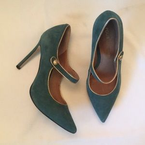 Beautiful Green Suede shoes